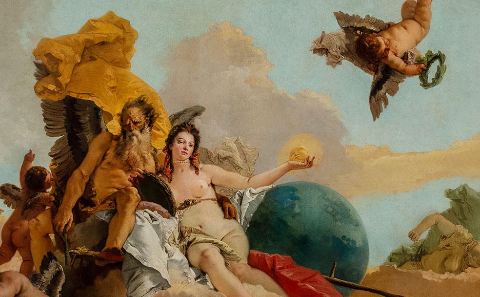Джамбаттиста Тьеполо. Время, открывающее Истину. Около 1745. Холст, масло. Палаццо Кьерикати